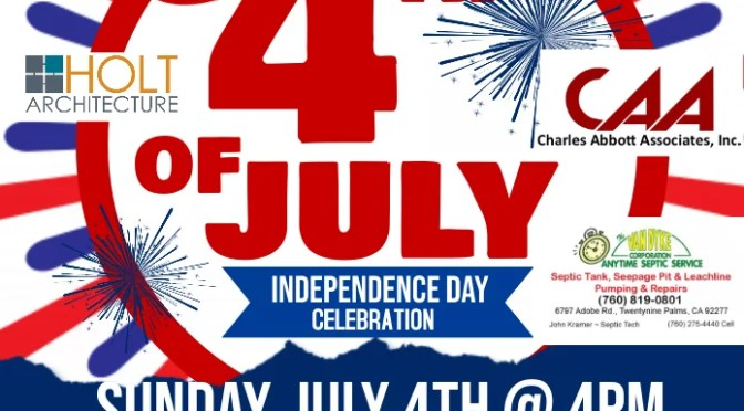 4TH OF JULY FIREWORKS SHOWS IN YUCCA VALLEY AND TWENTYNINE PALMS TOMORROW