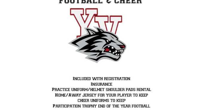 REGISTRATIONS CONTINUE FOR YUCCA VALLEY LOBOS FOOTBALL AND CHEER TEAMS