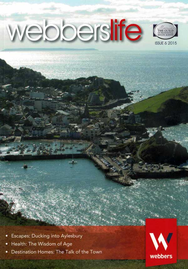 Robert Zarywacz photo of Ilfracombe, North Devon on the cover of Webberslife magazine