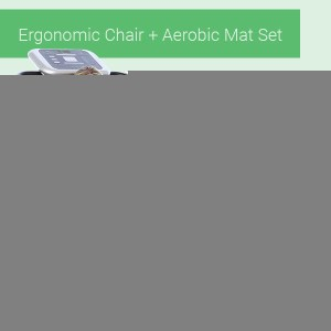 Ergonomic Chair + Aerobic Mat Set