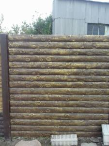 Забор- Бревно