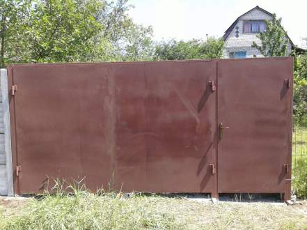 установка ворот с калиткой