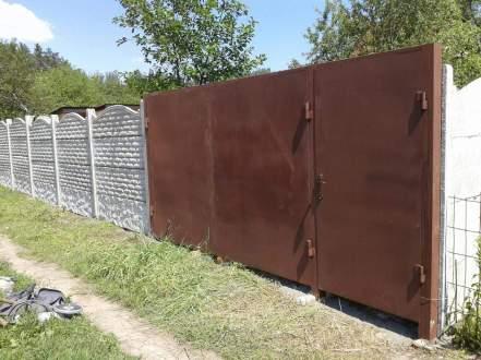 установленные ворота и еврозаборв харькове
