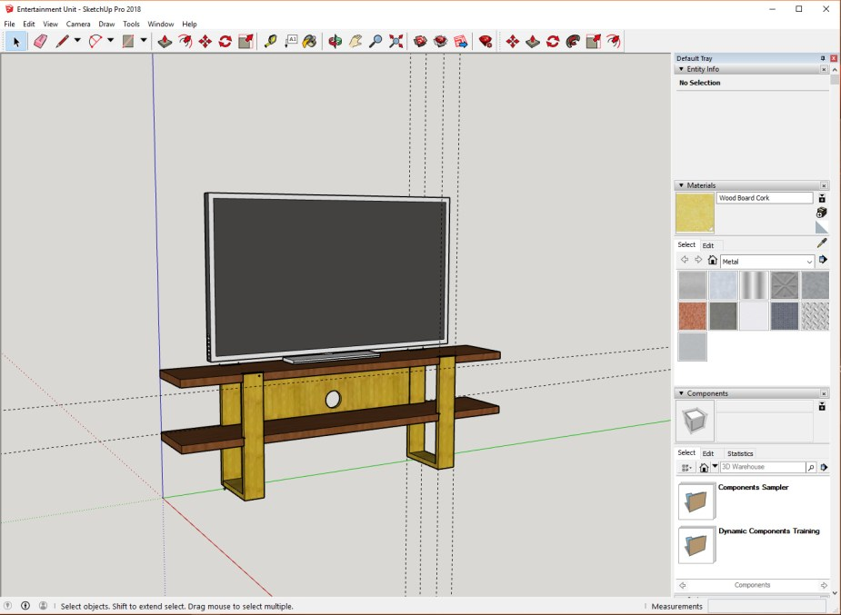 TV Stand Sketch Up