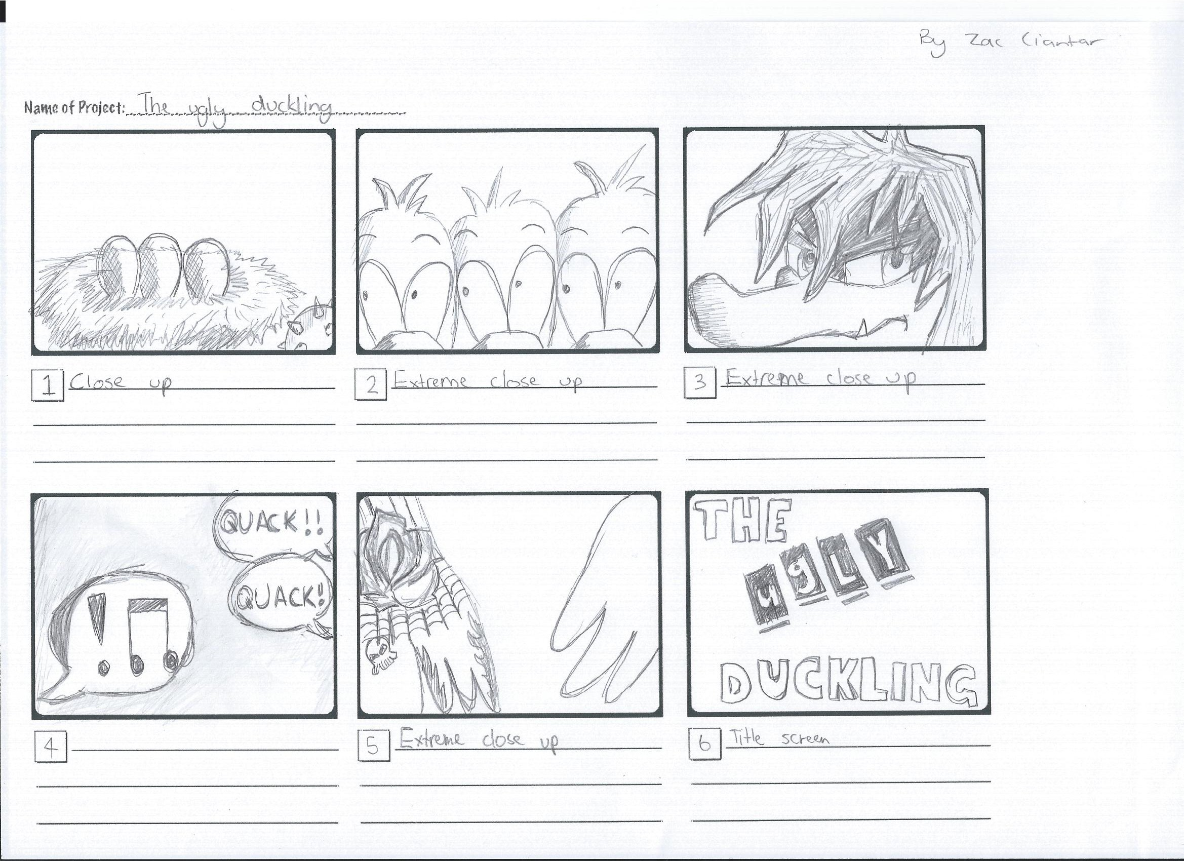 Storyboard The Ugly Duckling