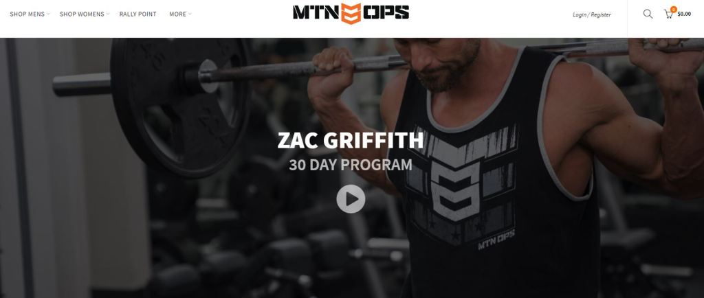 ZAC GRIFFITH MTN OPS 30 DAY PROGRAM