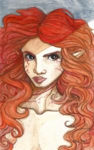 Fan Art Spotlight! Portrait of Aerwyn by Courtney Keys Watercolor