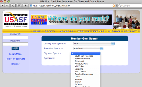 USASF Gym Finder