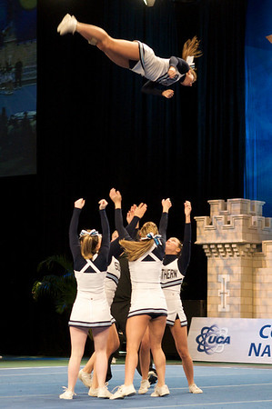 Picture of an SCSU Full Basket at 2010 UCA College nationals team competition all girl division 2