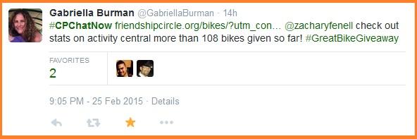 Great Bike Giveaway information