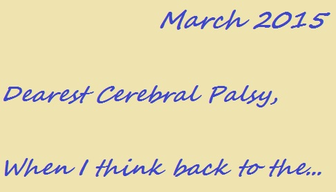 Read my letter to my cerebral palsy at The Mighty.