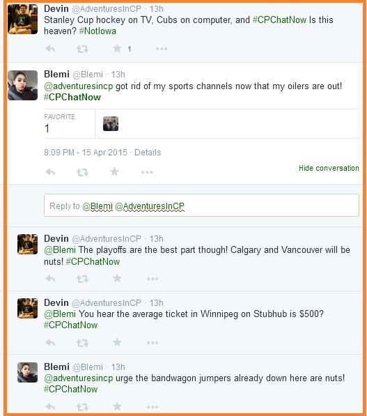 Stanley Cup talk