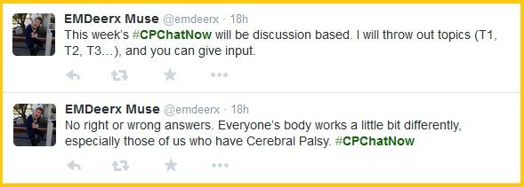 Ground rules for #CPChatNow's exercise focus chat