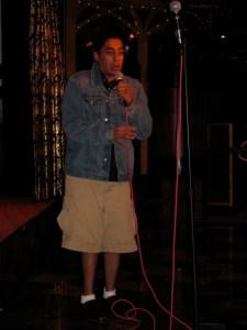 Hamid Ala singing a tune.