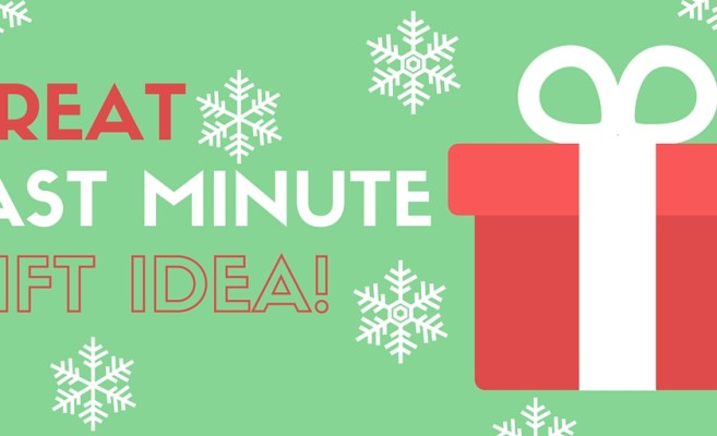 This last minute gift idea is great because it eliminates last minute hassles!