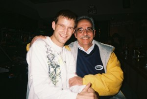 Tony Zupancic and I back in 2009 at Notre Dame College's senior farewell event.