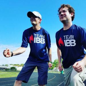 My friend Nate and I representing Team IBB.
