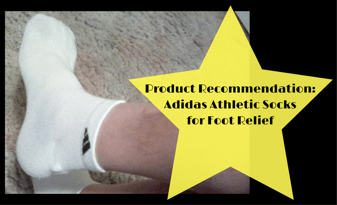 Zachary recommends Adidas athletic socks for foot relief from tired feet.