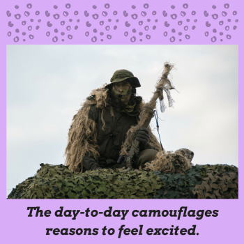 The day-to-day camouflages reasons to feel excited.