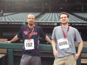 With my friend Nate on Progressive Field, sacred land to me!