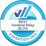 Expertido.org badge for being one of the best cerebral palsy blogs.