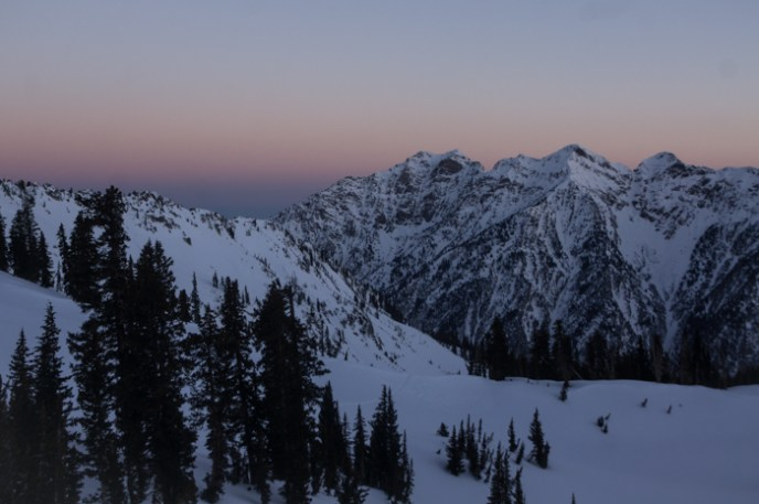 Sunrise over the Cottonwood Canyons Ridgeline