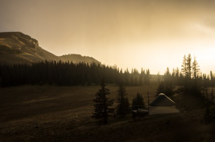 Sunset at the Colorado Trail Friends Memorial Yurt