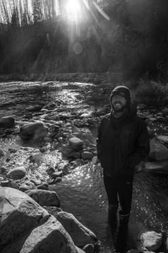Jonny Enjoying Xtra-Tuff Hot Springs