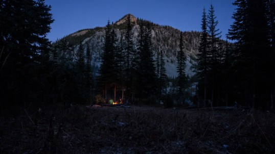 An Evening Fire below Huntsberger Peak