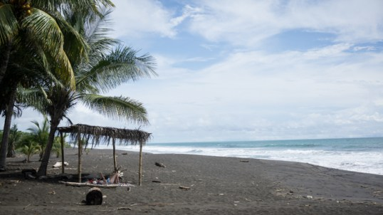 Further Up the Pacific Coast on the Black Sand Beaches of Playa Hermosa
