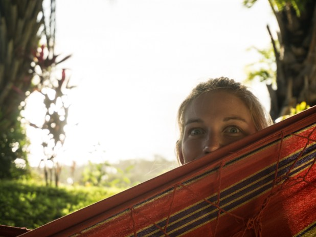Grete Mischeviously Enjoying the Afternoon Hammock Session