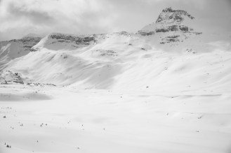 Canadian Scale - Becca, Anthony, and Grete Skin Below the Isolated Col