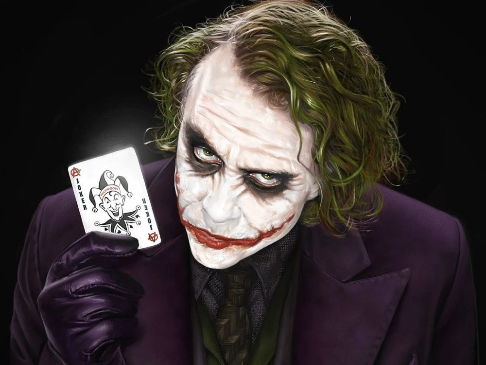 The Joker with his calling card