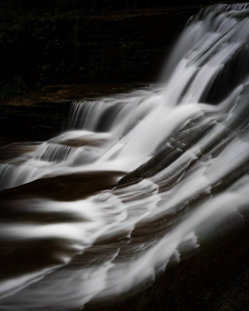 long-exposure of Lucifer Falls in upstate New York