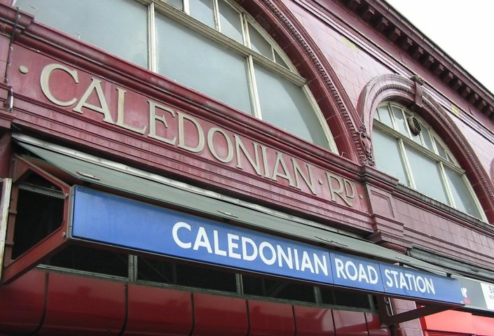 several signs saying Caledonian Road