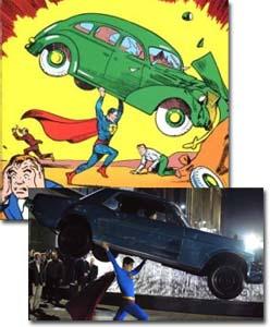 Superman Returns and Action Comics #1