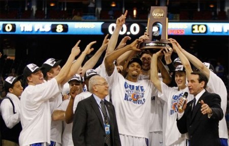 Duke Blue Devils advance to 2010 NCAA Tournament Final Four | Picture used for personal, non-commercial purposes