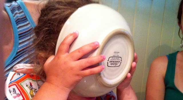 Face Full of Ice Cream Bowl
