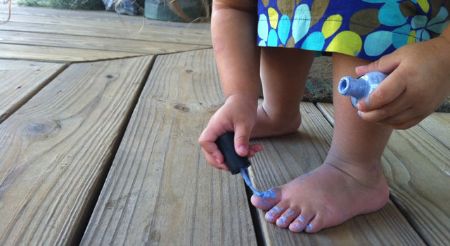Milly Paints Her Toes