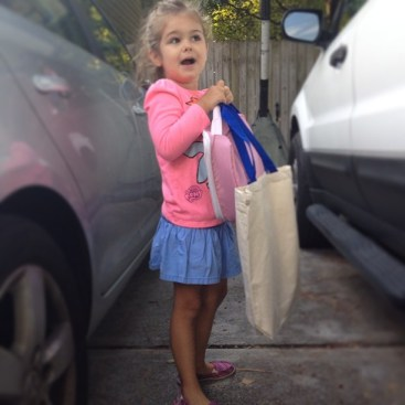 Milly going to school