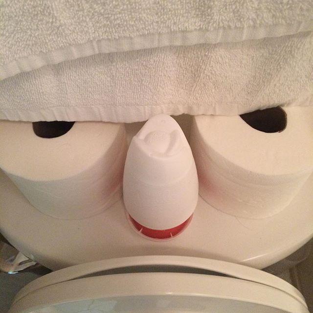 Pissed off toilet.