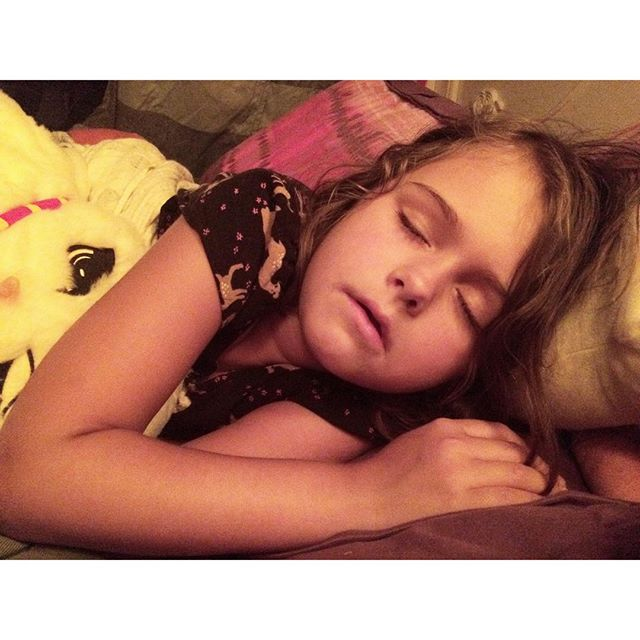 #Goodnight, sweet girl. I hope you had a wonderful seventh birthday. #Meliamae #happybirthday #turning7