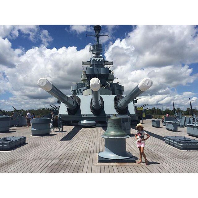 Spent several hours exploring the battleship today. #BattleshipNC #Wilmington #WilmingtonNC #DowntownWilmington #localtourist #historybuff #exploreyourcity #Meliamae