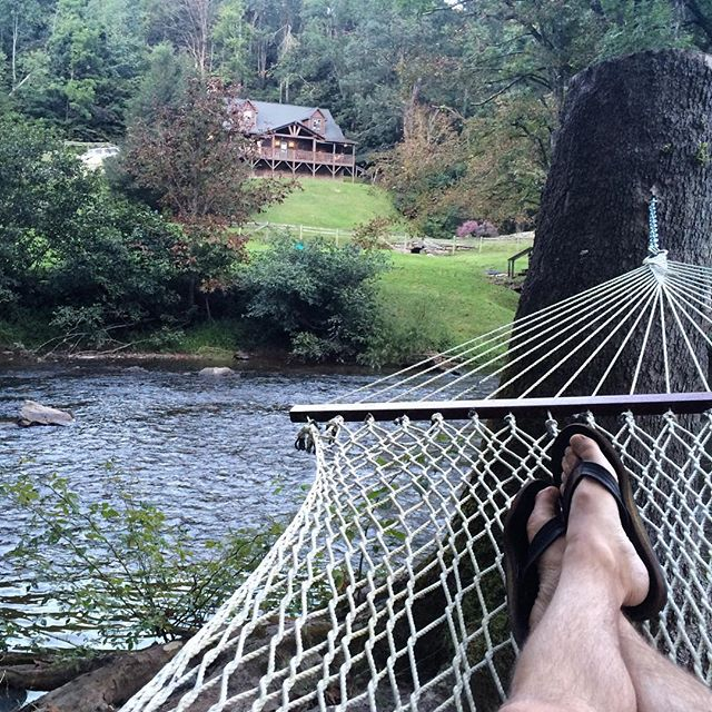 Relaxing in a hammock by the river. Doesn't get much better. #LaborDayWeekend2016