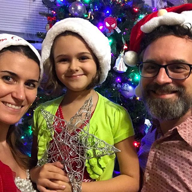 Finally put some ornaments on the tree tonight with these lovely ladies. #Meliamae