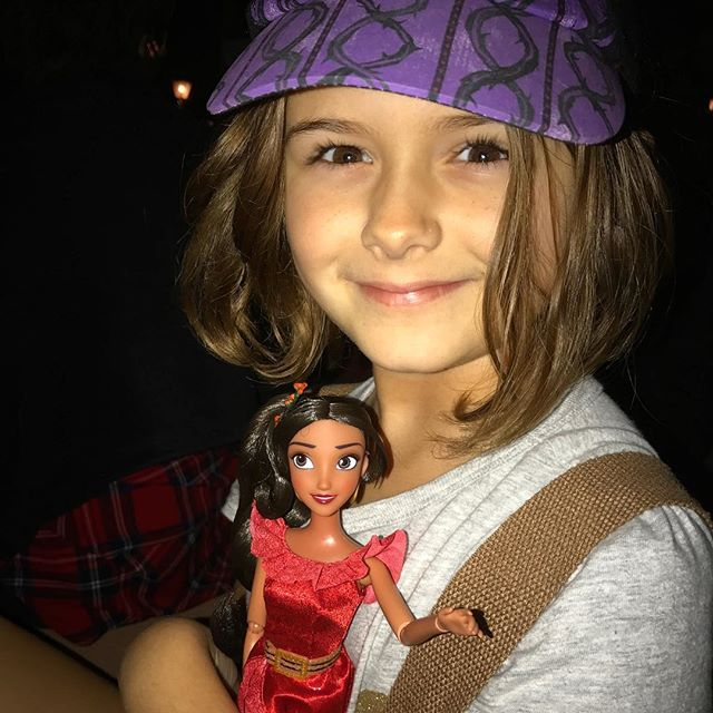 #Meliamae and her new #ElenaofAvalor doll are ready for the #fireworks.