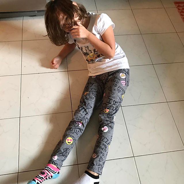 When you make your kid laugh so hard she falls on the floor and can't get back up. #Meliamae #lovemygirl