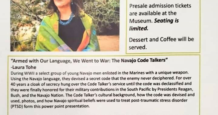 Downtown Needles, CA: Needles Regional Museum presents Armed with Our Language, We Went to War: The Navajo Code Talkers.