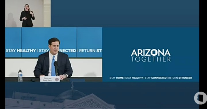 Live News Update: Arizona: Governor Doug Ducey provides COVID-19 update.