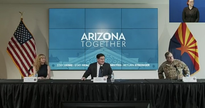 Live News Alert: Arizona: Governor Doug Ducey holds news briefing regarding Arizona's response to the COVID-19 outbreak.